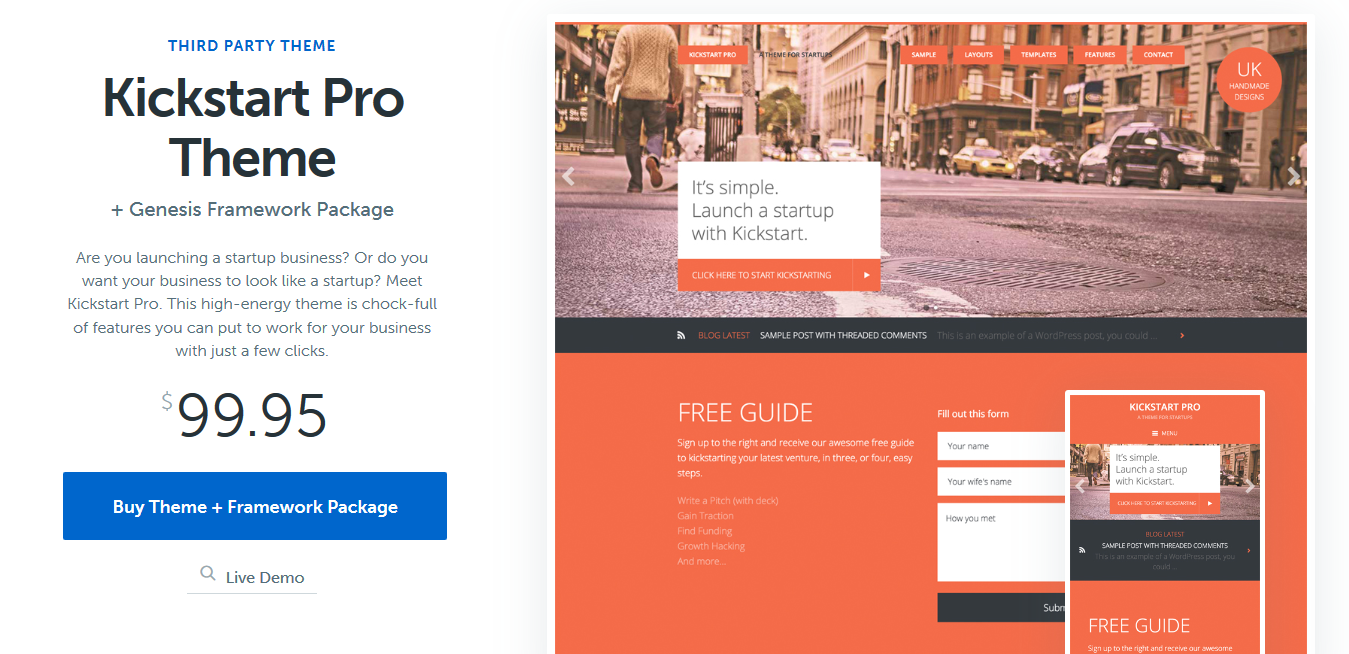StudioPress Kickstart Pro Genesis WordPress Theme 1.3.7