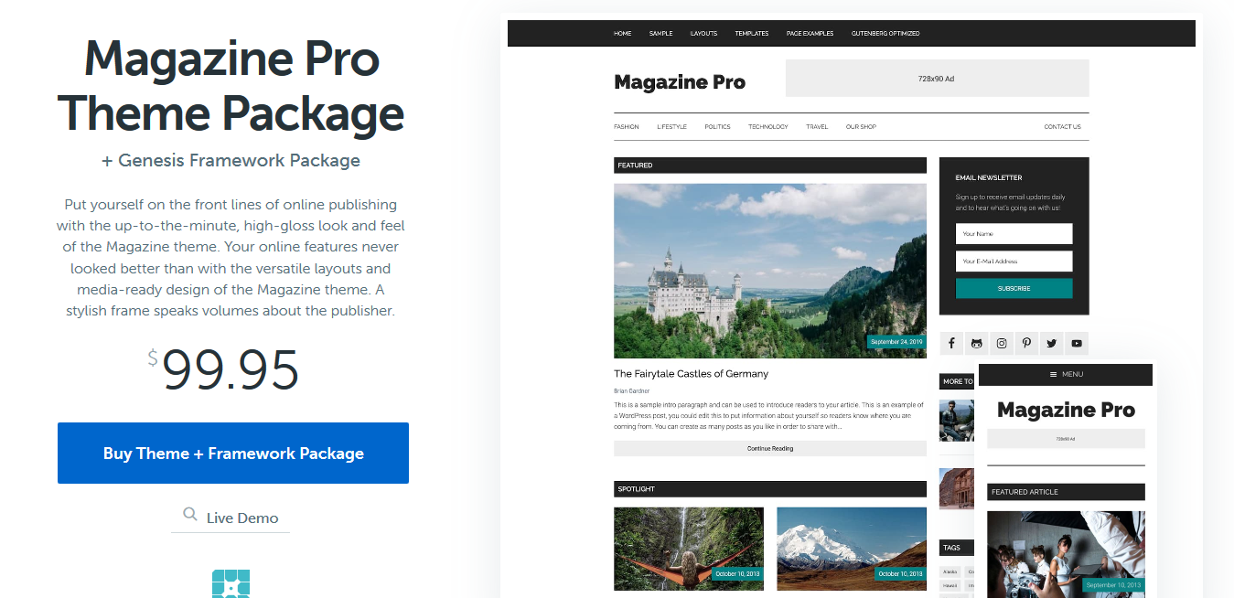StudioPress Magazine Pro Genesis WordPress Theme 3.6.0