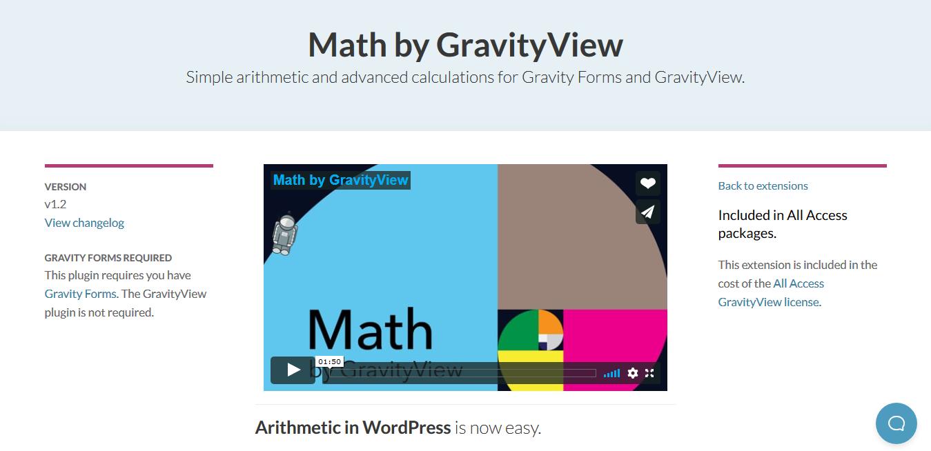GravityView – Math 2.0.1