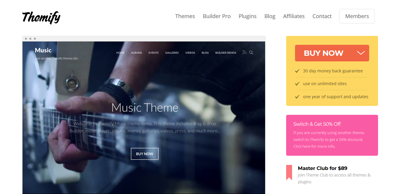 Themify Music WordPress Theme 5.2.0