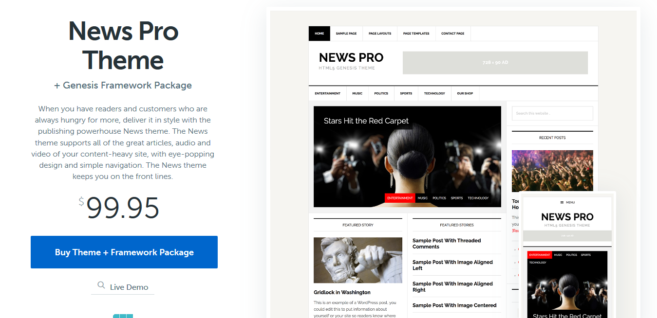 StudioPress News Pro Genesis WordPress Theme 3.3.0