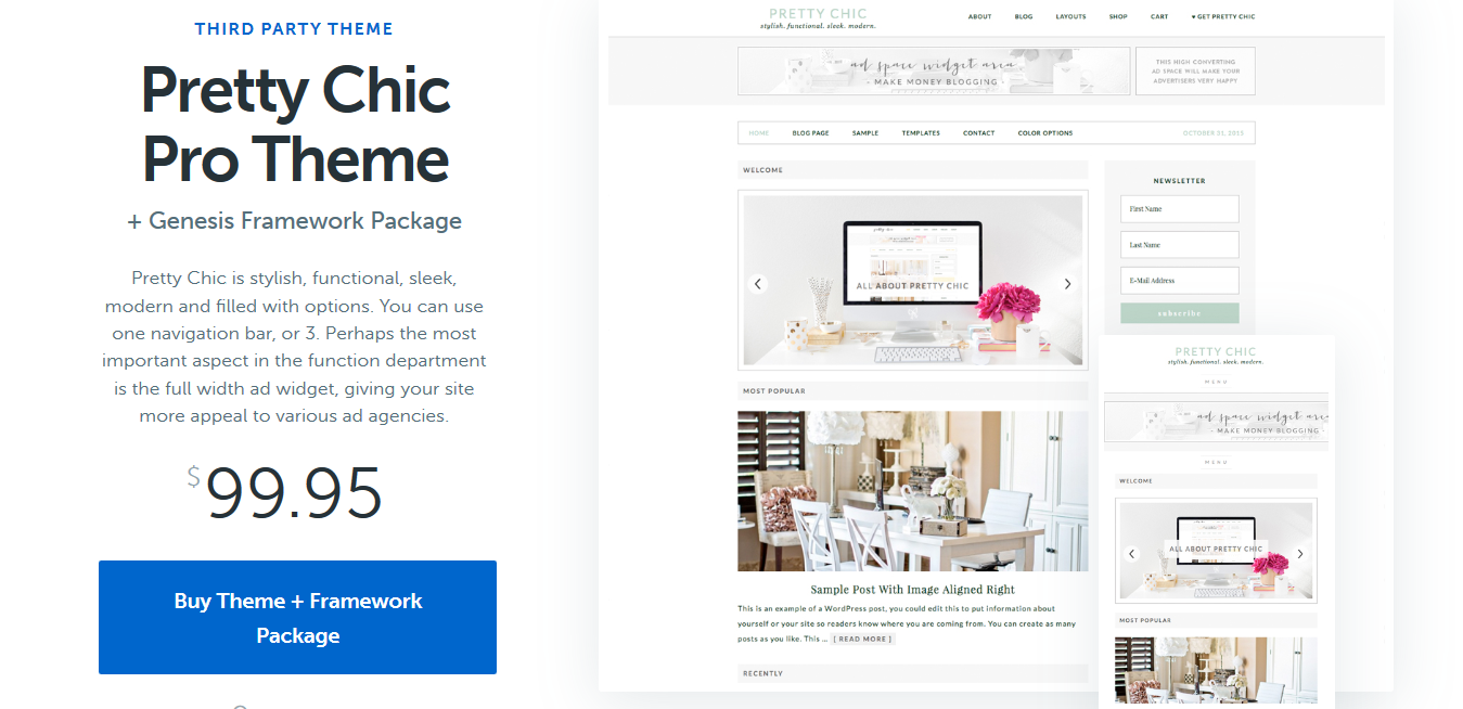 StudioPress Pretty Chic Pro Genesis WordPress Theme 1.0.1
