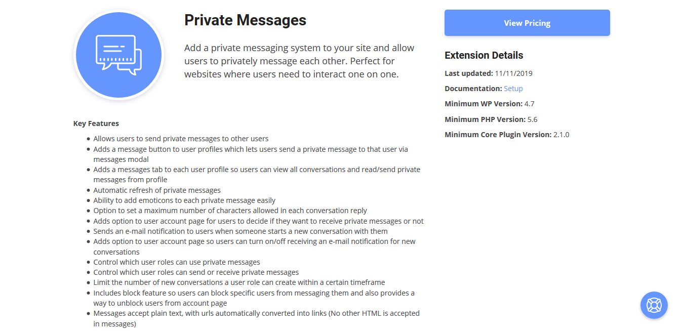 Ultimate Member Private Messages Addon 2.2.7