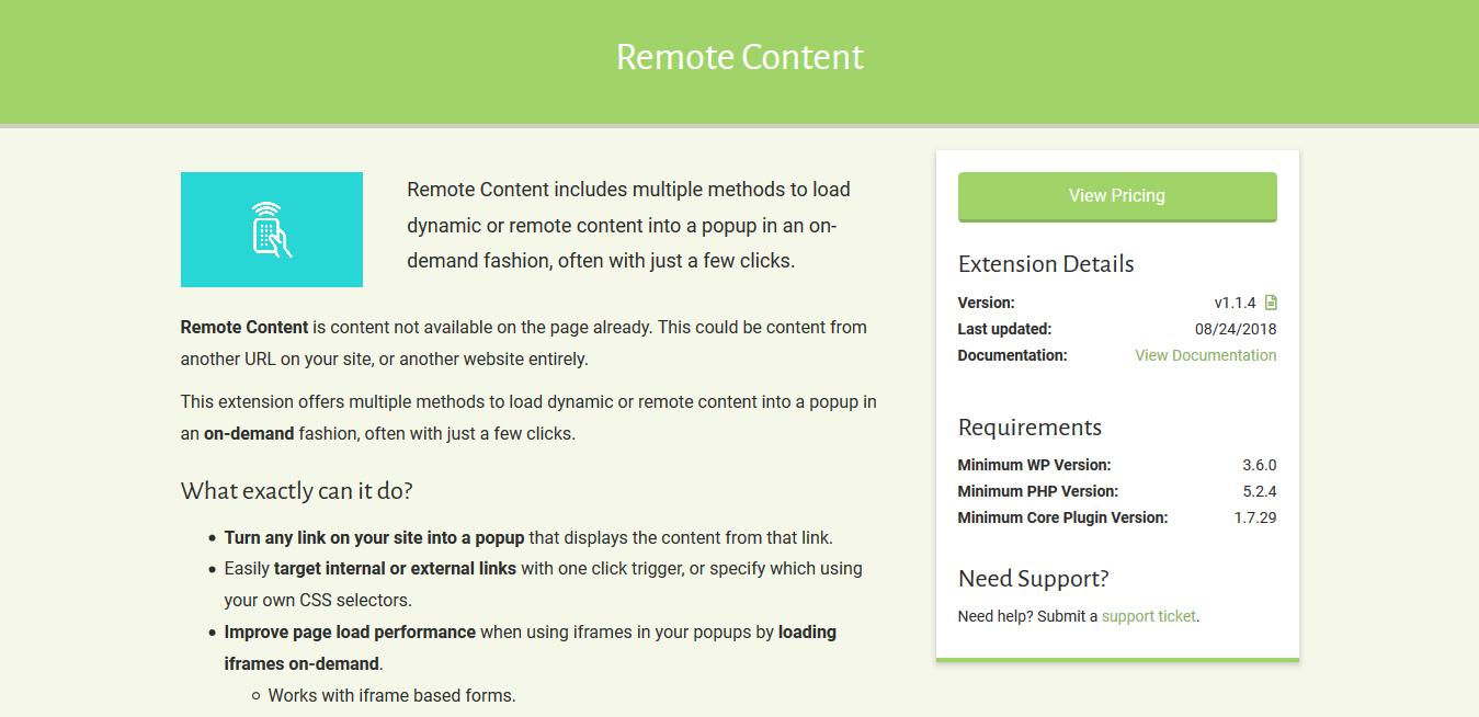 Popup Maker – Remote Content 1.1.4