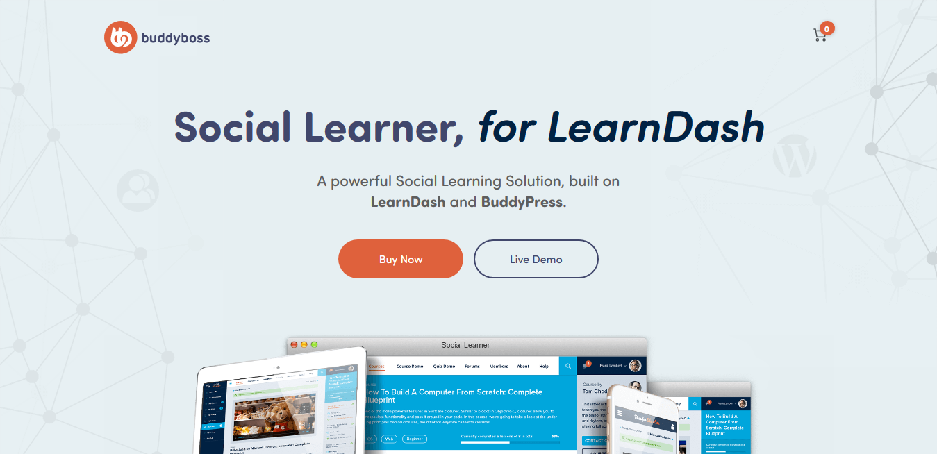 Boss/Social Learner, for LearnDash 1.3.6 – Built on LearnDash and BuddyPress