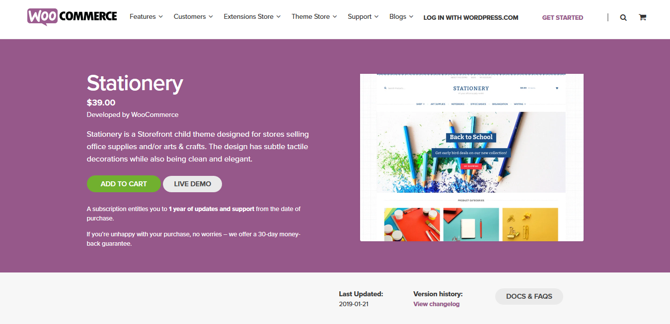 Stationery 1.0.13 – WooCommerce Storefront Child Theme