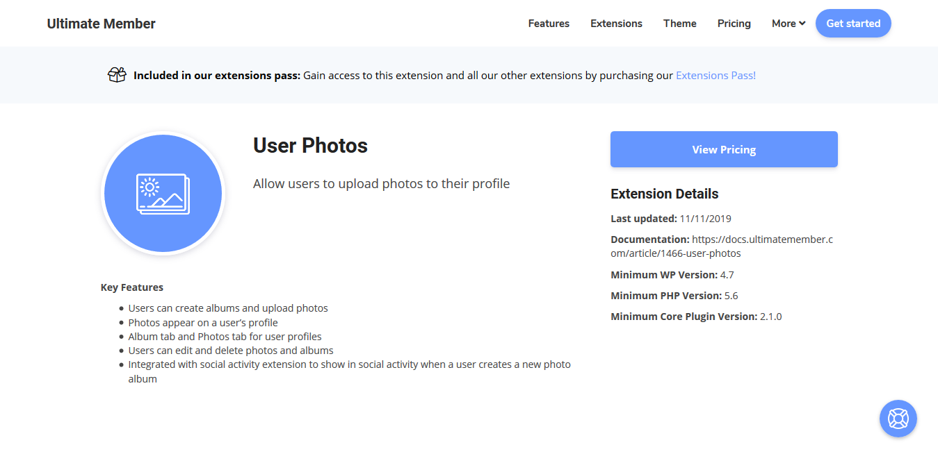 Ultimate Member User Photos Addon 2.0.7