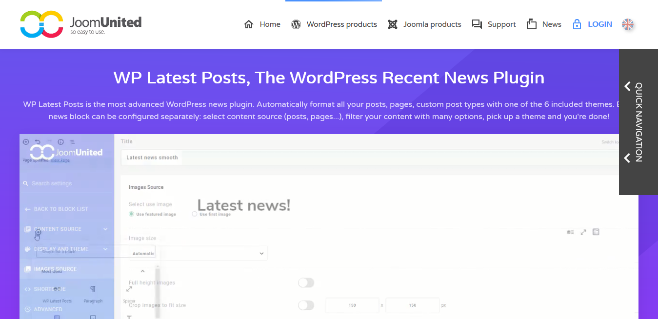 JoomUnited WP Latest Posts Pro Addon 4.4.4 – The WordPress Recent News Plugin