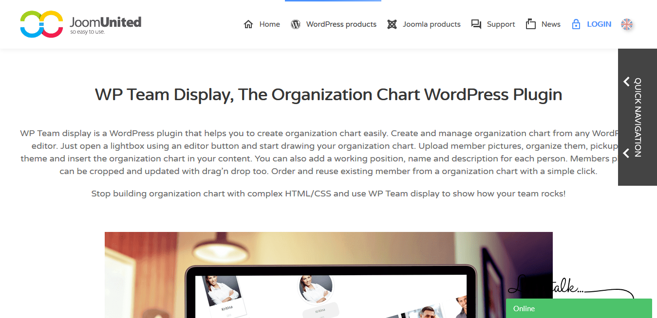JoomUnited WP Team Display 1.3.15 – The Organization Chart WordPress Plugin