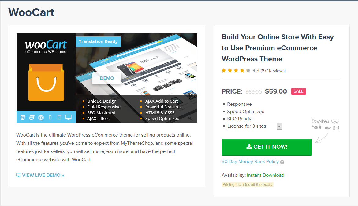 MyThemeShop WooCart WordPress Theme 1.4.9