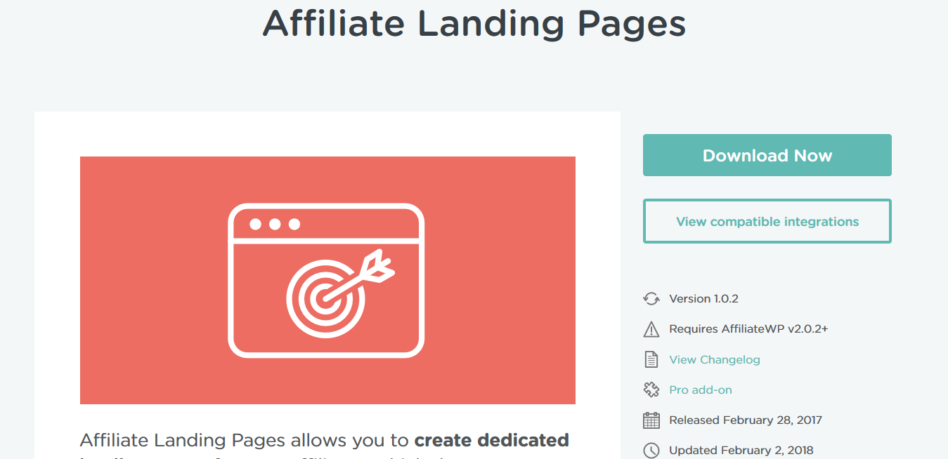 AffiliateWP – Affiliate Landing Pages 1.0.2