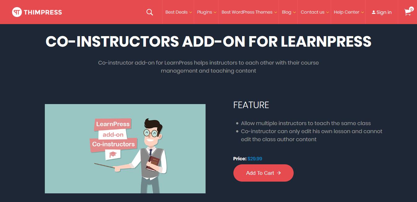 LearnPress – Co-Instructors 3.0.7