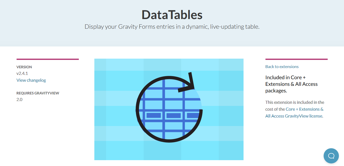 GravityView – DataTables Extension 2.4.6