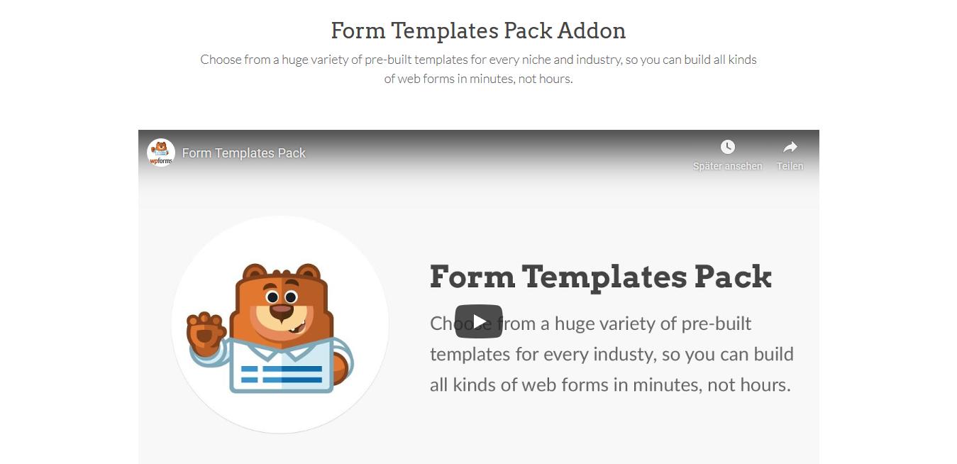 WPForms – Form Templates Pack 1.2.0