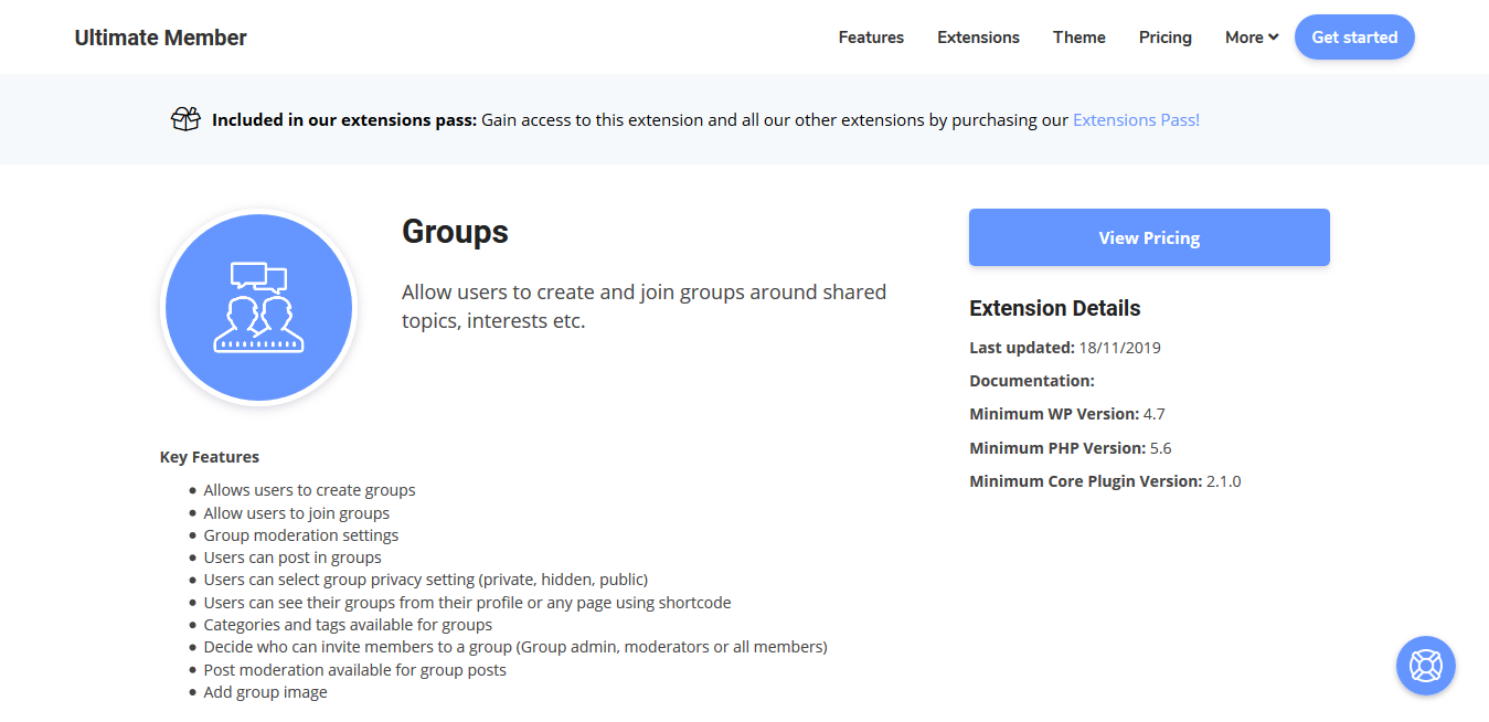 Ultimate Member Groups Addon 2.1.9