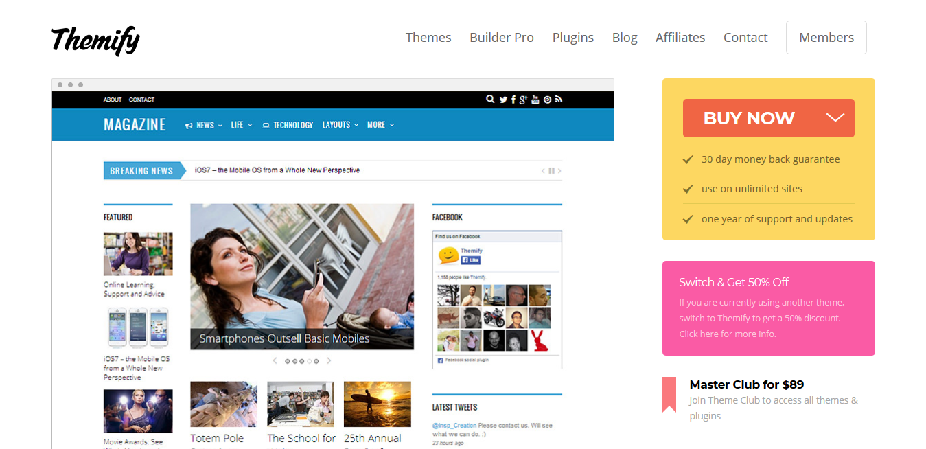 Themify Magazine WordPress Theme 5.1.4