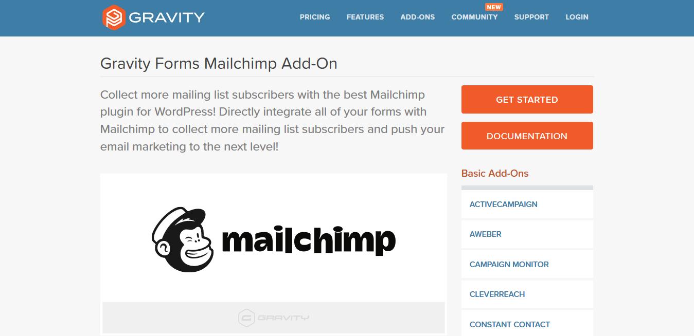 Gravity Forms Mailchimp Addon 4.8.0