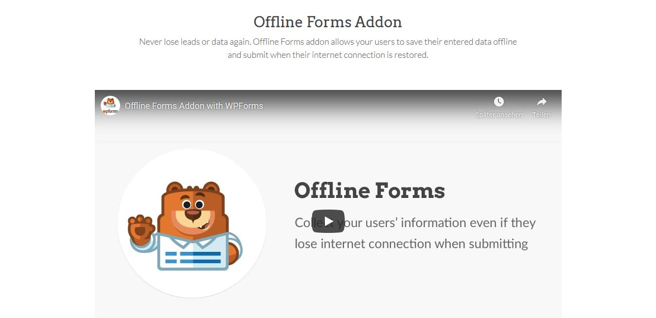 WPForms – Offline Forms 1.2.1