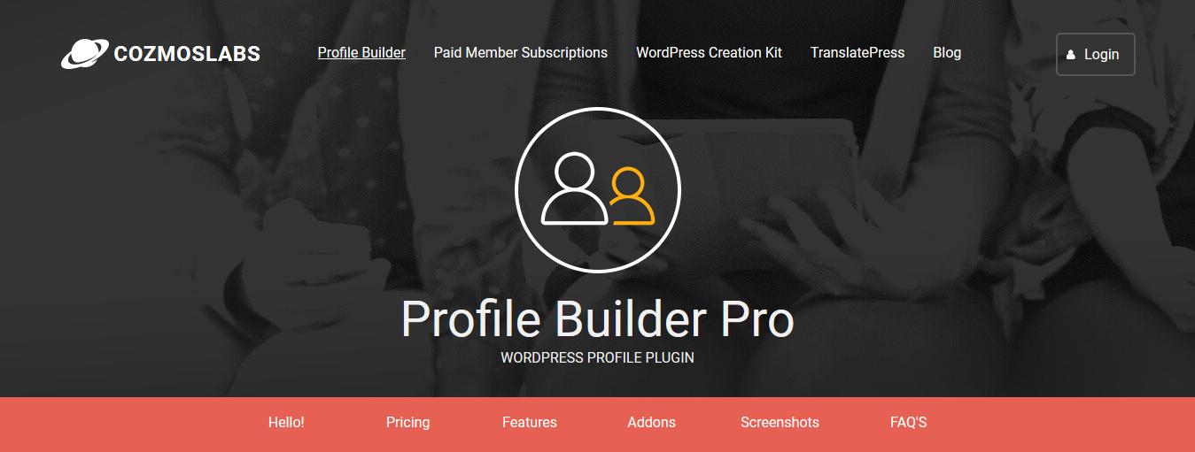 Profile Builder Pro – WordPress Plugin 3.5.7 + All 11 Addons