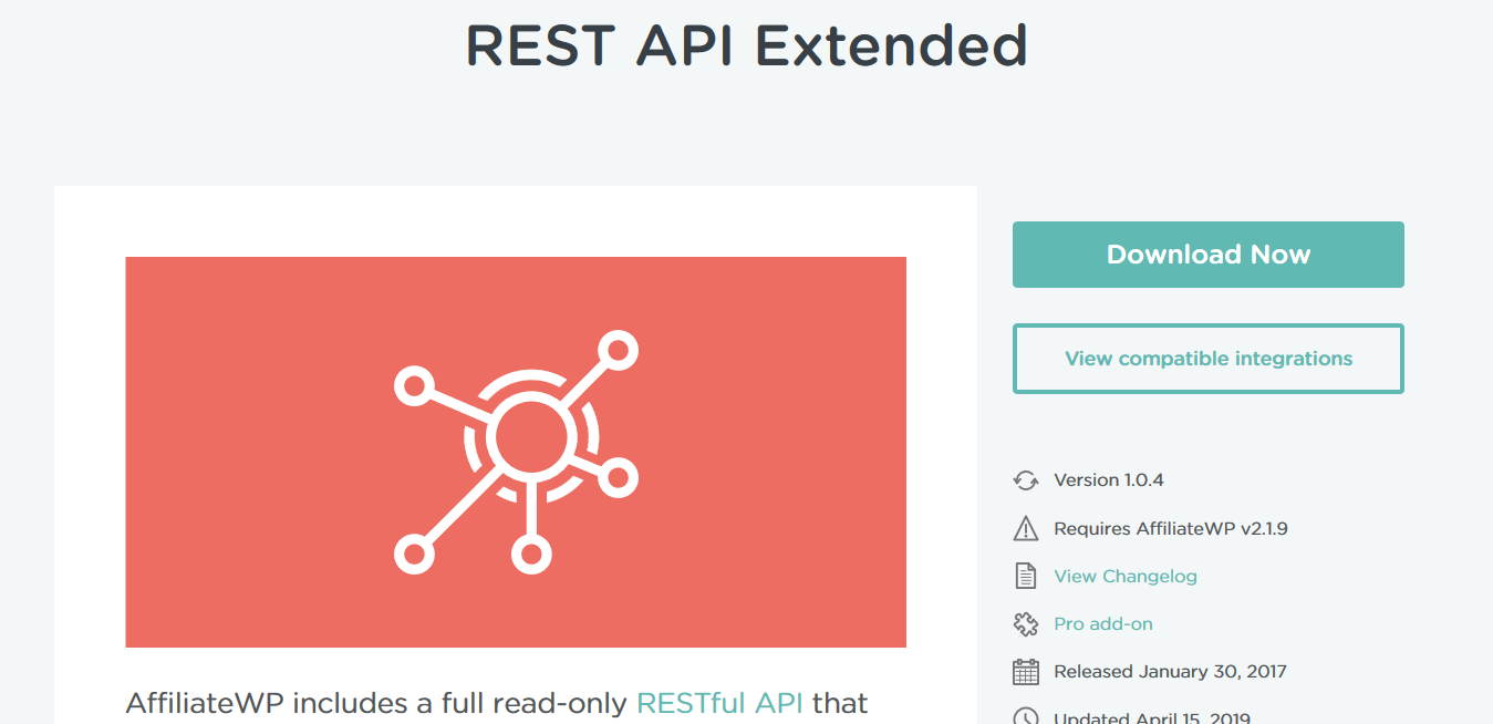AffiliateWP – REST API Extended 1.04