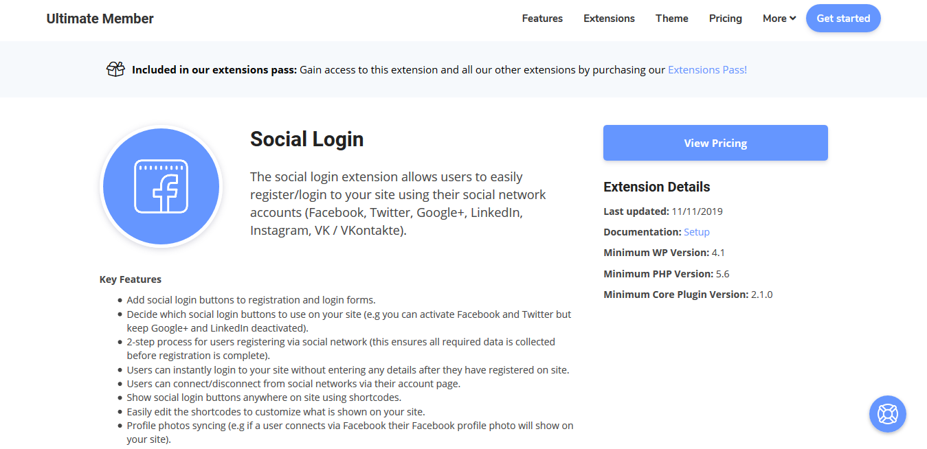 Ultimate Member Social Login Addon 2.3.8