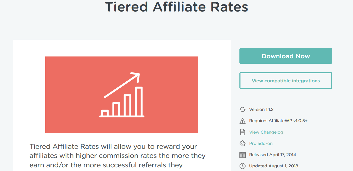 AffiliateWP – Tiered Affiliate Rates 1.1.2