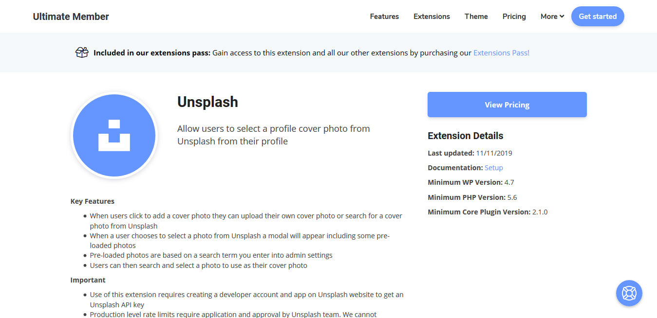 Ultimate Member Unsplash Addon 2.0.3