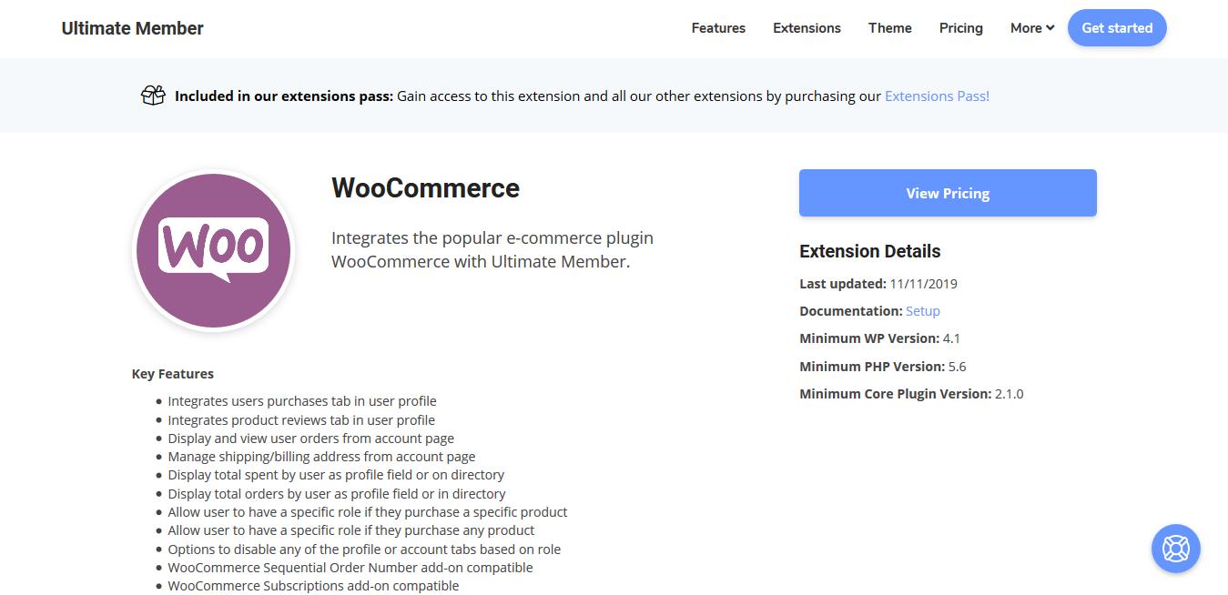 Ultimate Member for WooCommerce 2.2.2