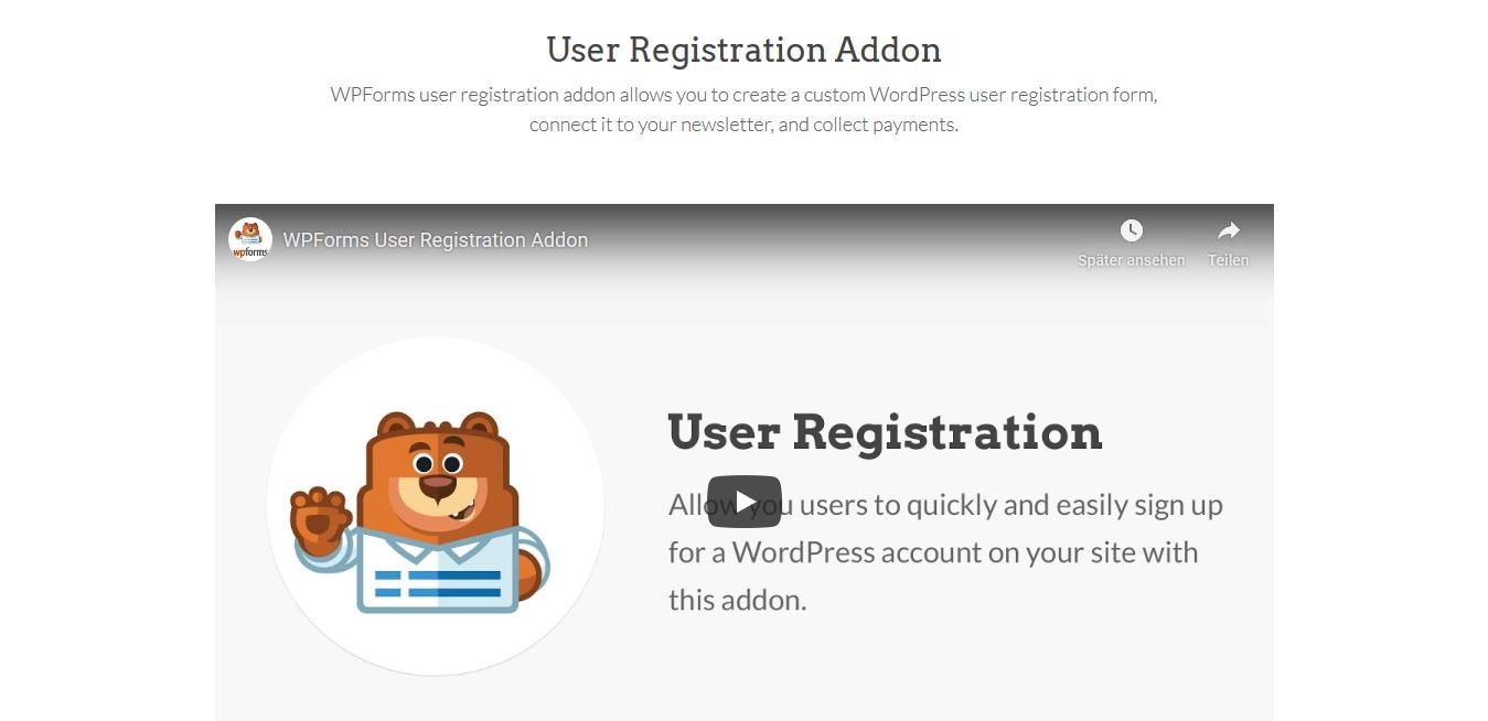 WPForms – User Registration 1.3.1