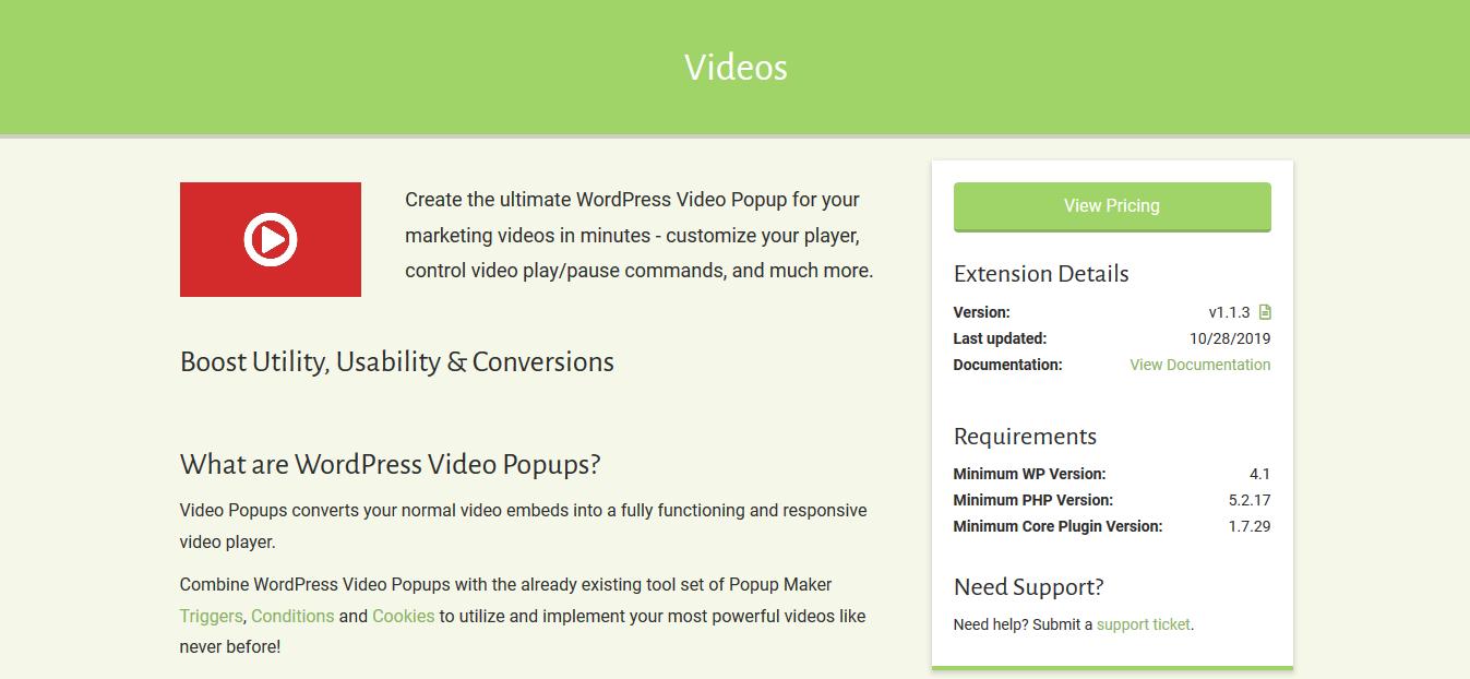 Popup Maker – Videos 1.1.3