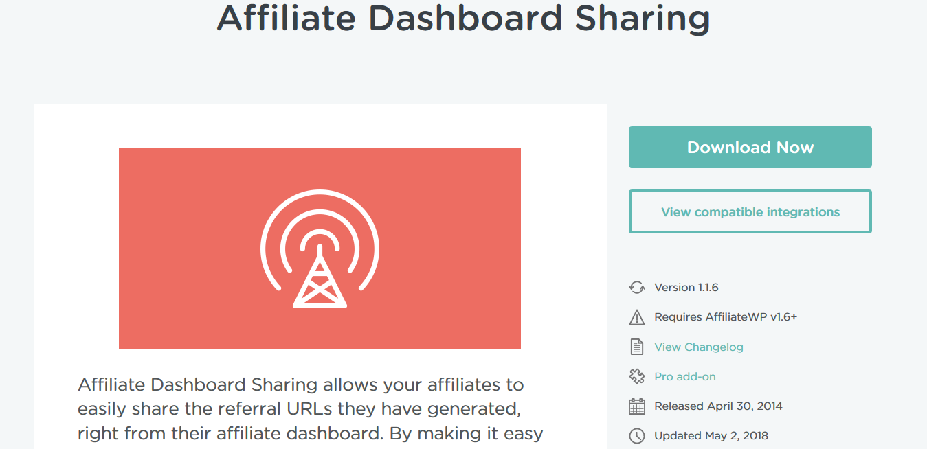 AffiliateWP – Affiliate Dashboard Sharing 1.1.6