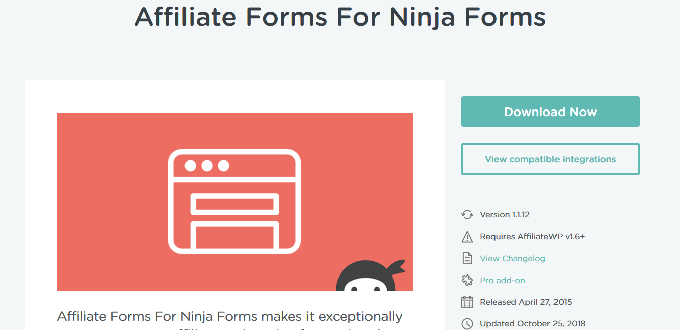 AffiliateWP – Affiliate Forms For Ninja Forms 1.1.12
