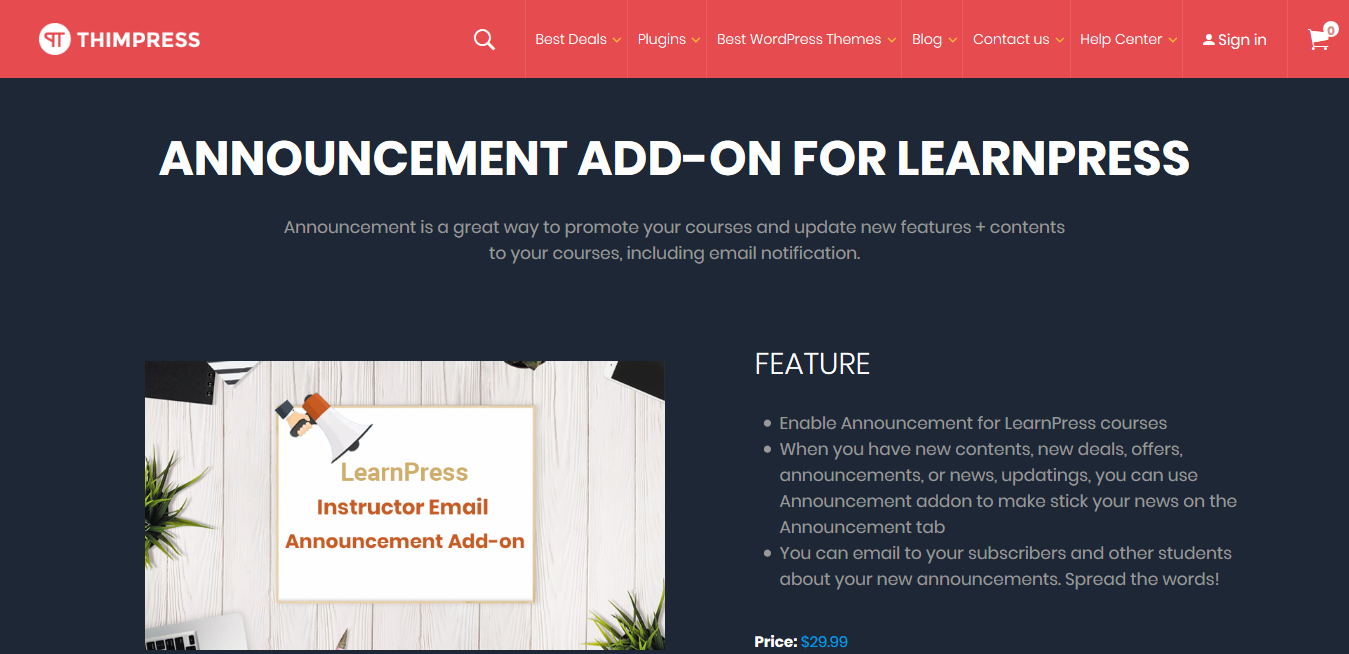 LearnPress – Announcements Addon 3.0.2