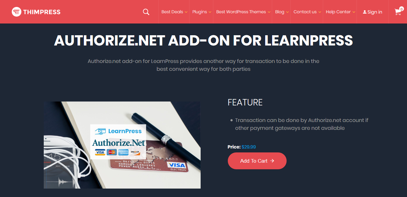 LearnPress – Authorize.Net Payment Addon 3.0.1