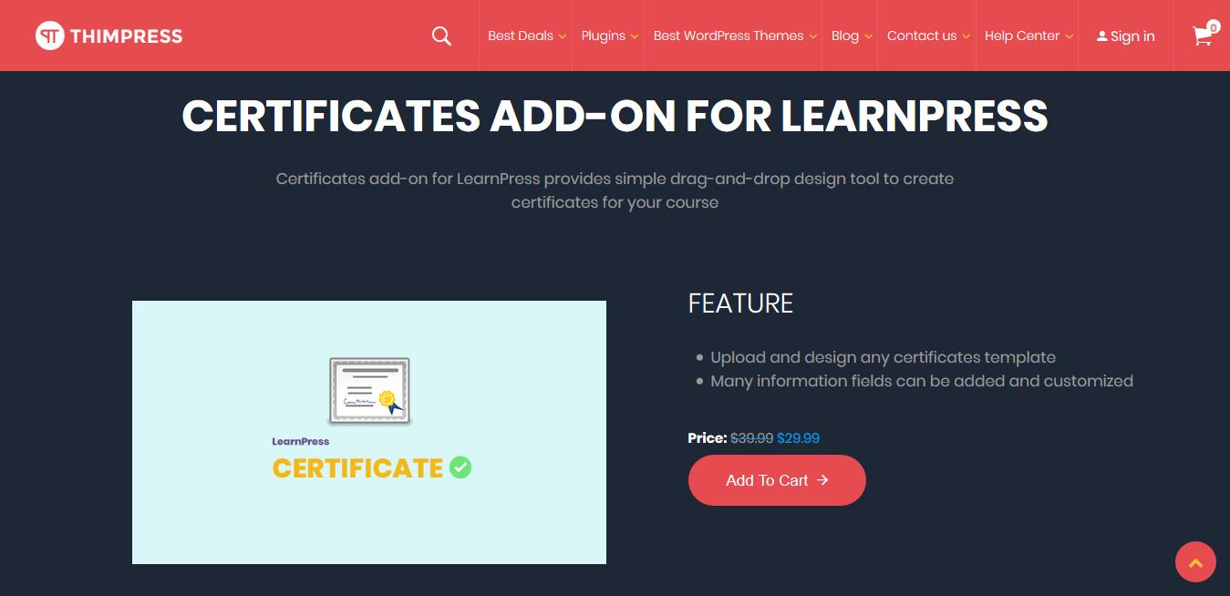 LearnPress – Certificates 3.2.0