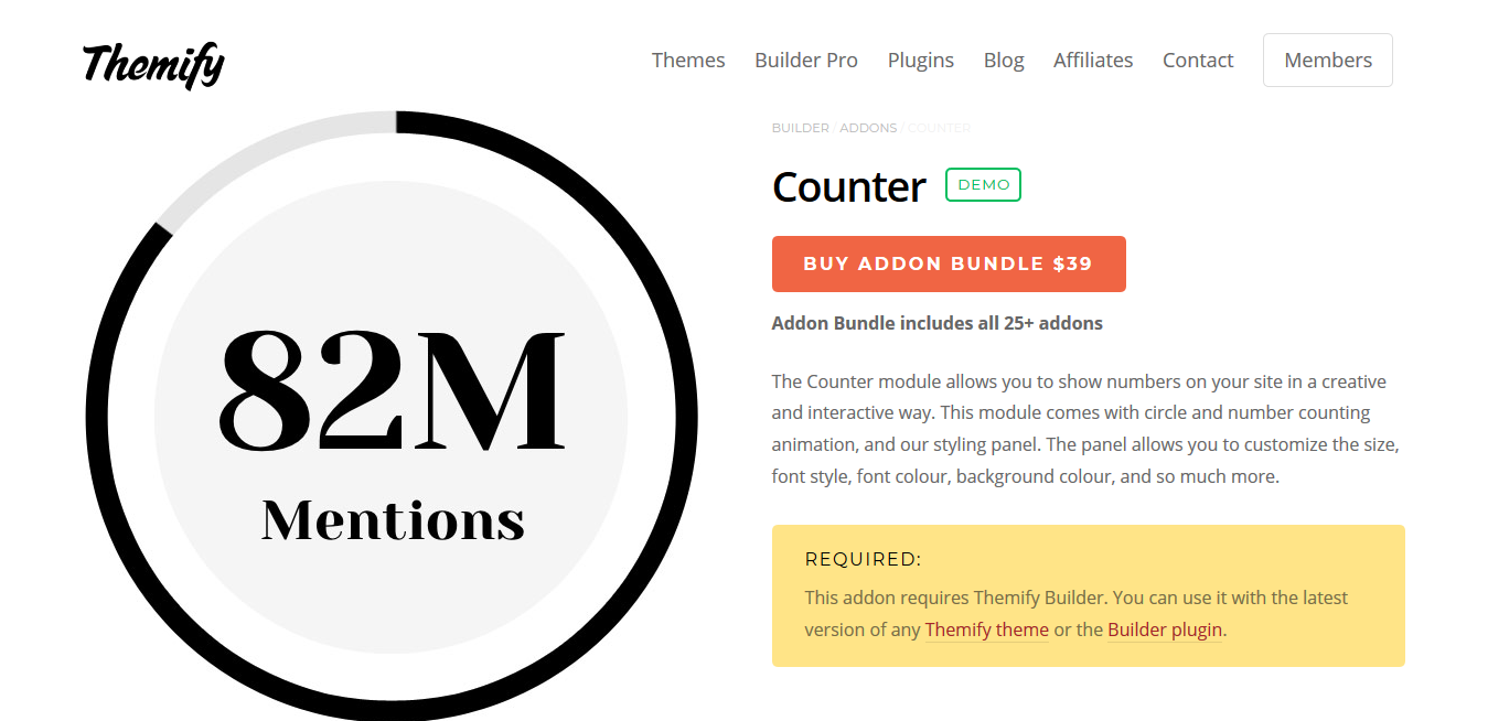 Themify Builder Counter 2.0.1