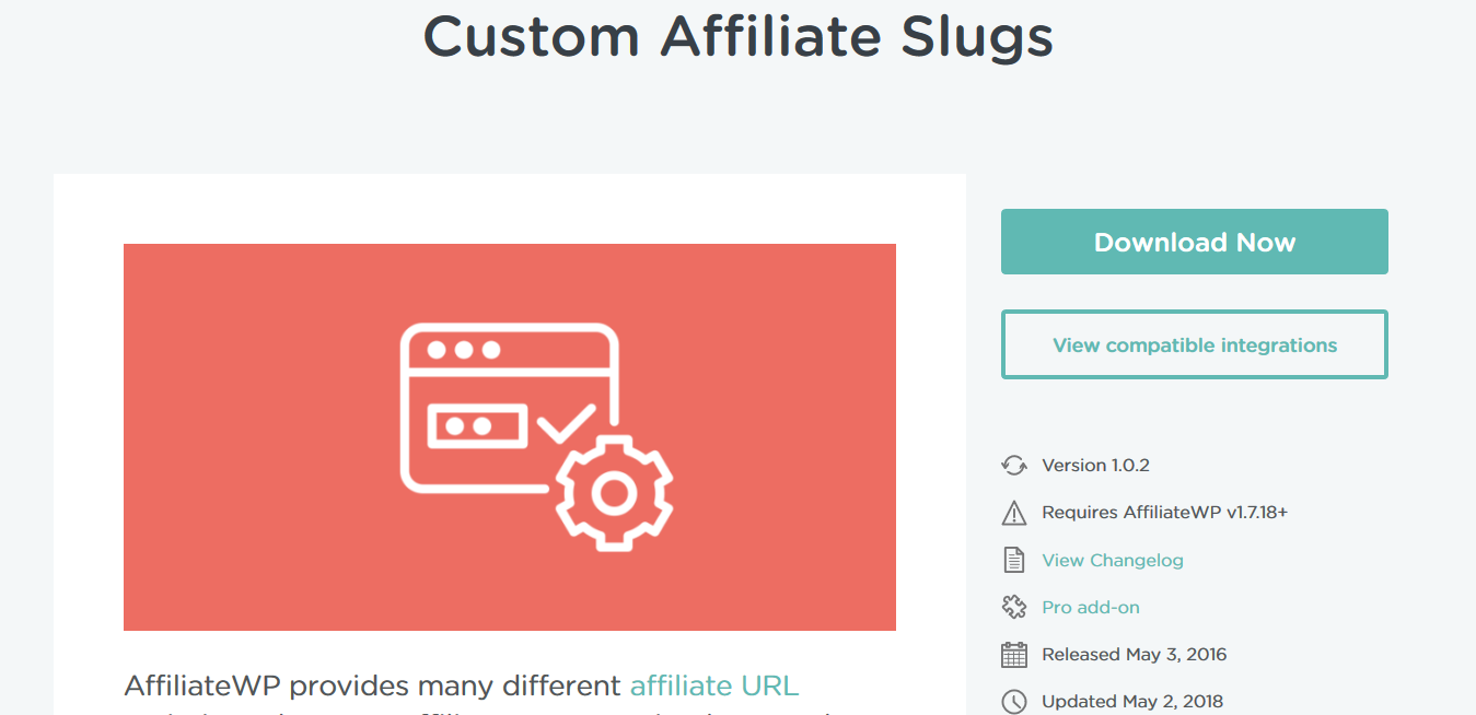 AffiliateWP – Custom Affiliate Slugs 1.0.3
