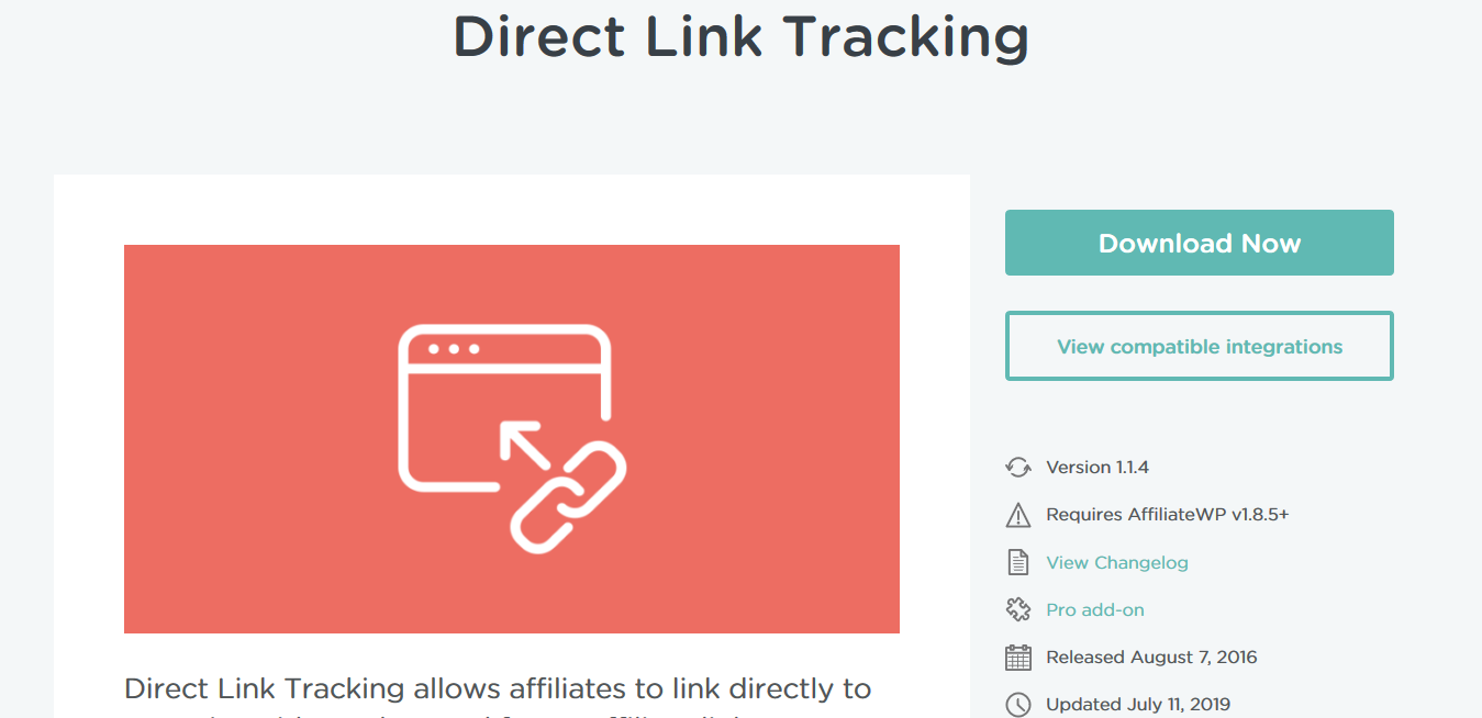 AffiliateWP – Direct Link Tracking 1.1.4