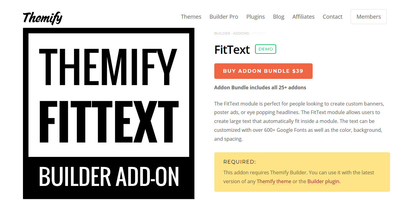 Themify Builder FitText 2.0.0