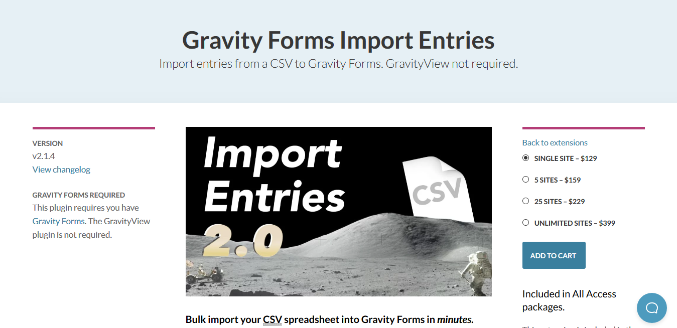 GravityView – Gravity Forms Import Entries 2.1.8