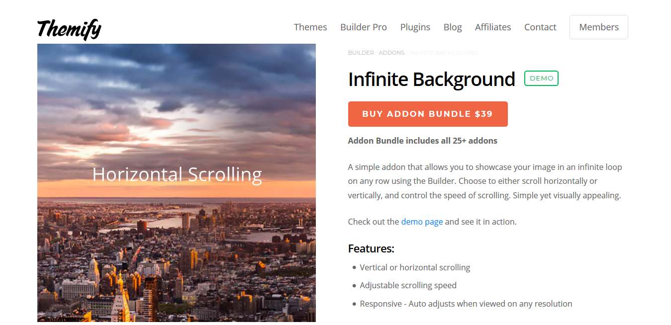 Themify Builder Infinite Background 2.0.0