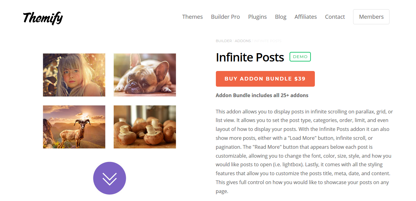 Themify Builder Infinite Posts 2.0.0
