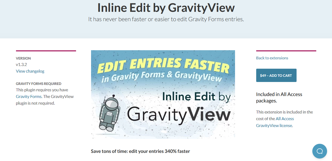 GravityView – Inline Edit 1.3.2