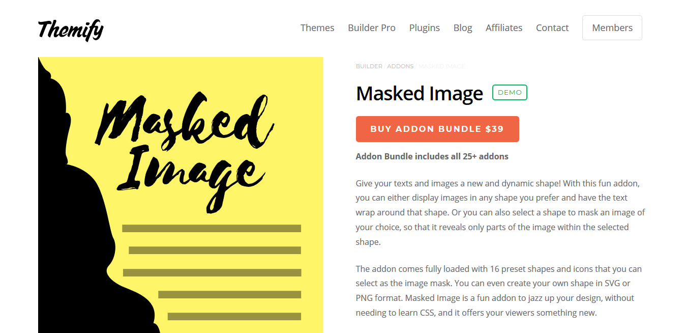 Themify Builder Masked Image 2.0.0