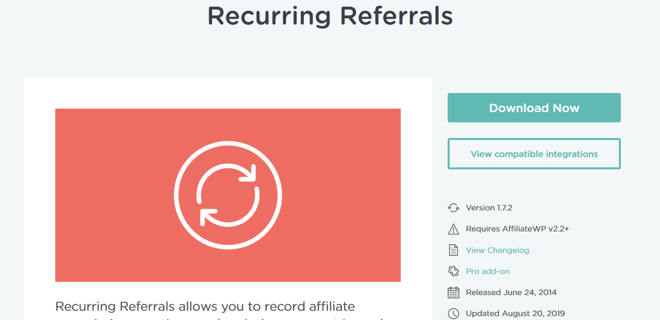 AffiliateWP – Recurring Referrals 1.7.2