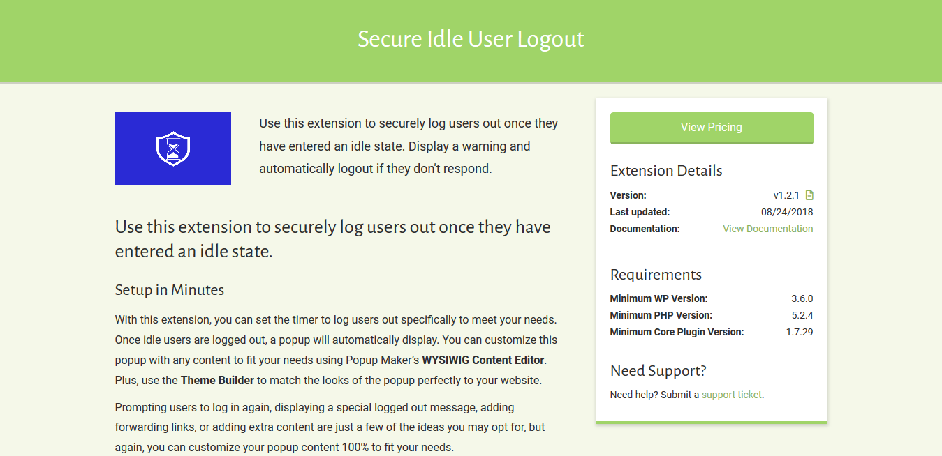 Popup Maker – Secure Idle User Logout 1.2.1