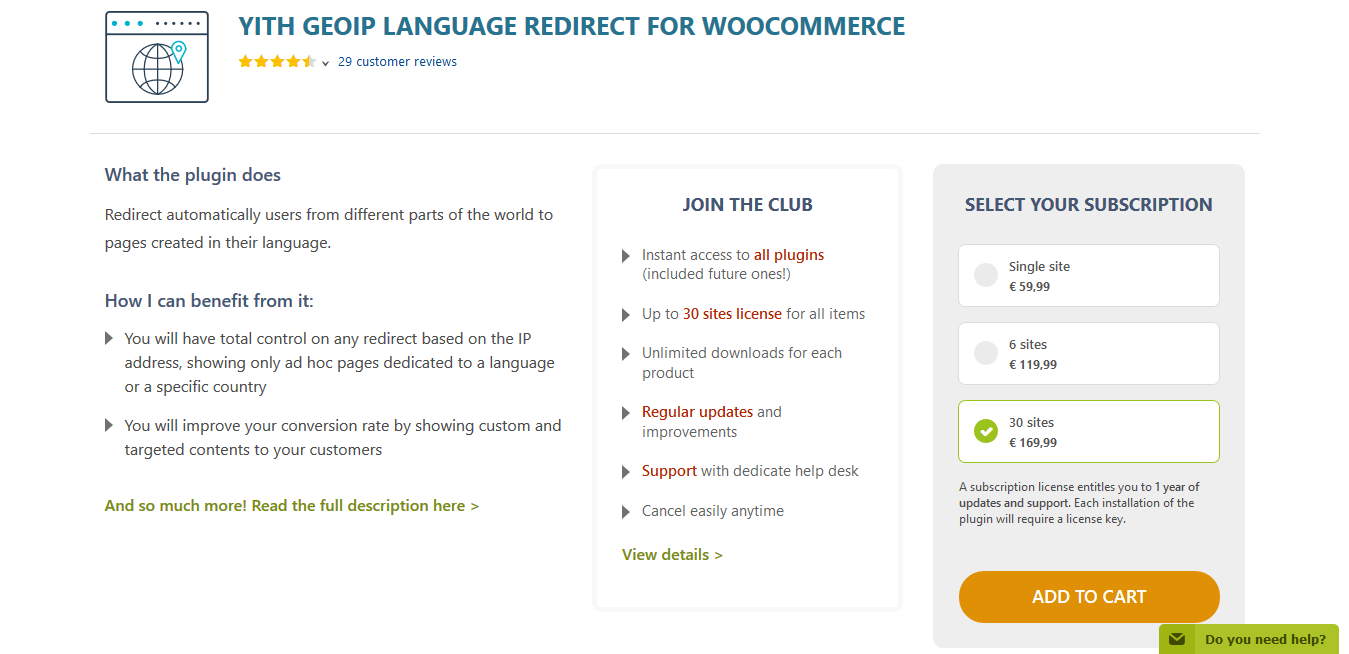 YITH GeoIP Language Redirect for WooCommerce Premium 1.1.2