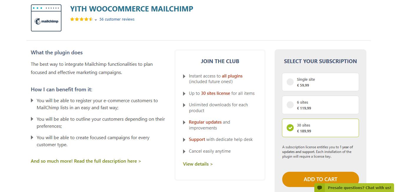 YITH WooCommerce Mailchimp Premium 2.2.1