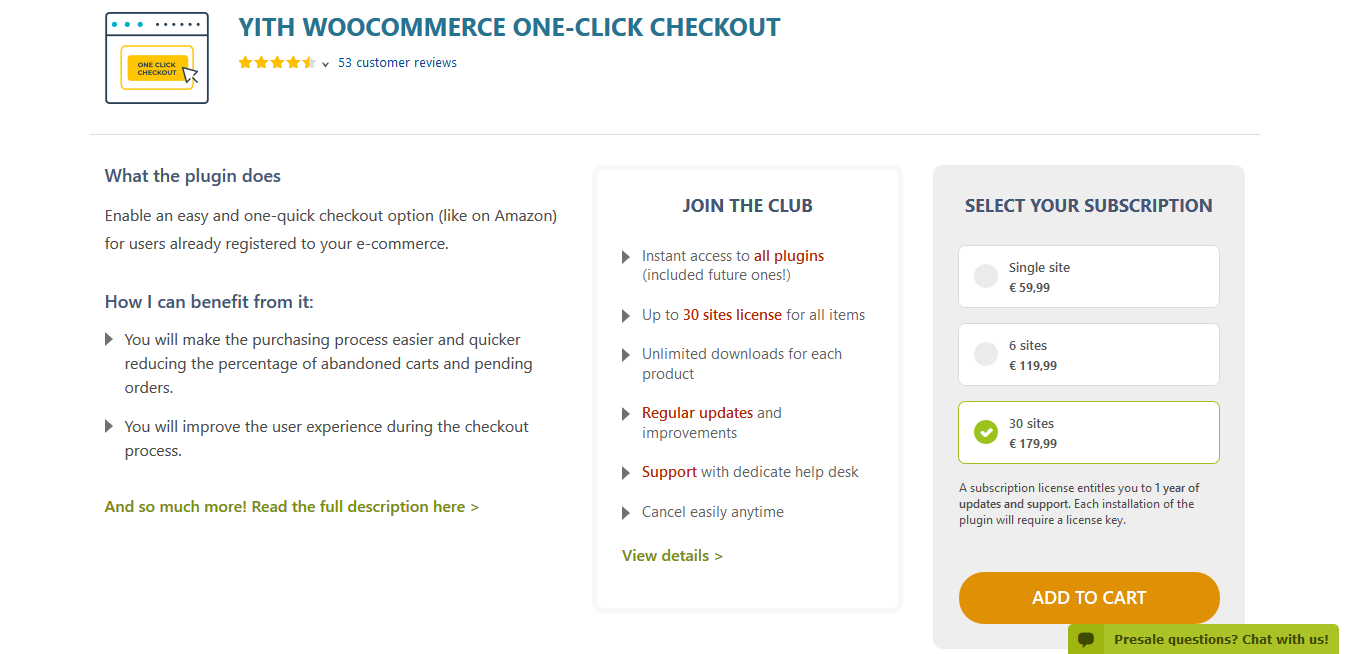 YITH WooCommerce One-Click Checkout Premium 1.6.2