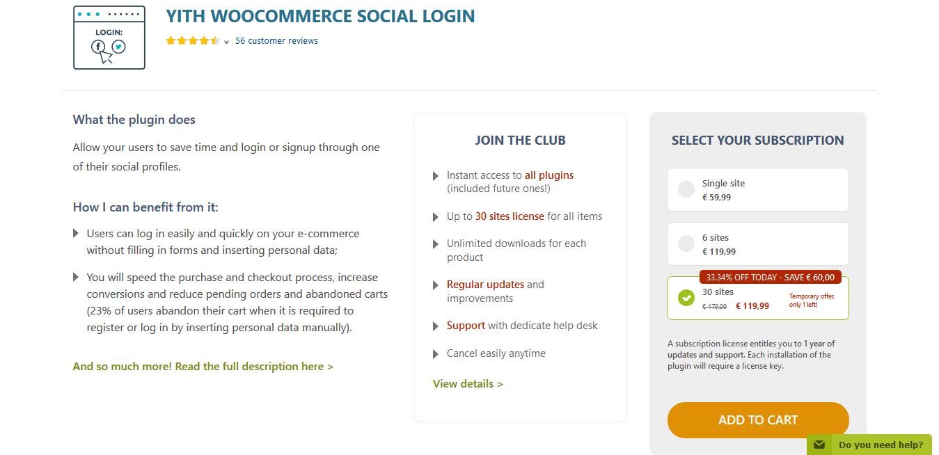 YITH WooCommerce Social Login Premium 1.6.8